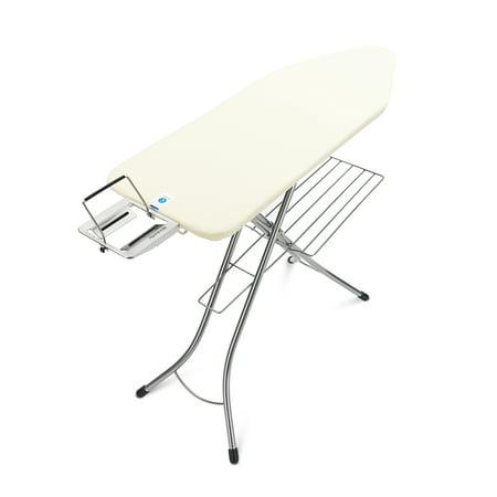 Brabantia Ironing Board C, 49x18in (124x45cm), Steam Iron Rest + Linen Rack