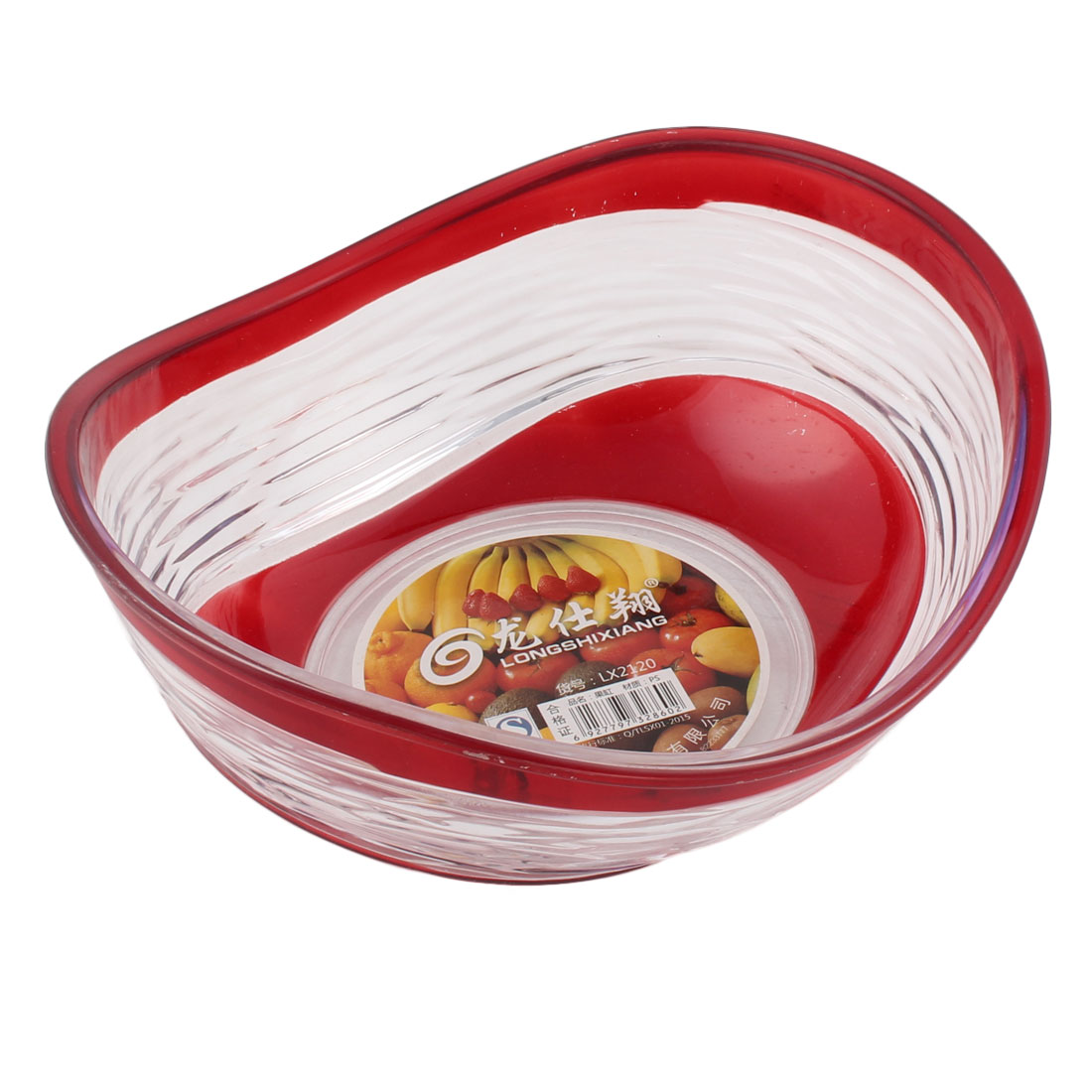 Household Plastic Wave Edge Design Fruit Dessert Dish Plate Container Holder by Unique-Bargains