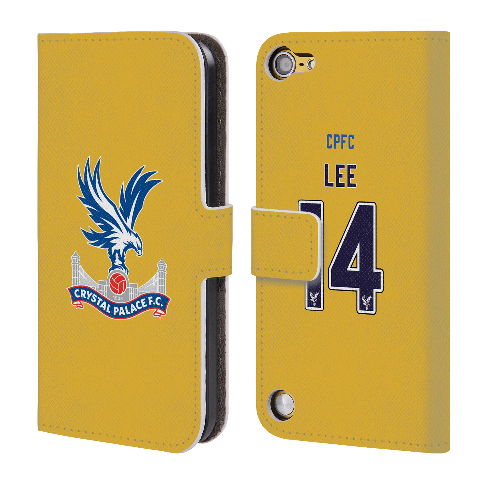 OFFICIAL CRYSTAL PALACE FC 2016/17 PLAYERS AWAY KIT LEATHER BOOK WALLET CASE COVER FOR APPLE IPOD TOUCH MP3