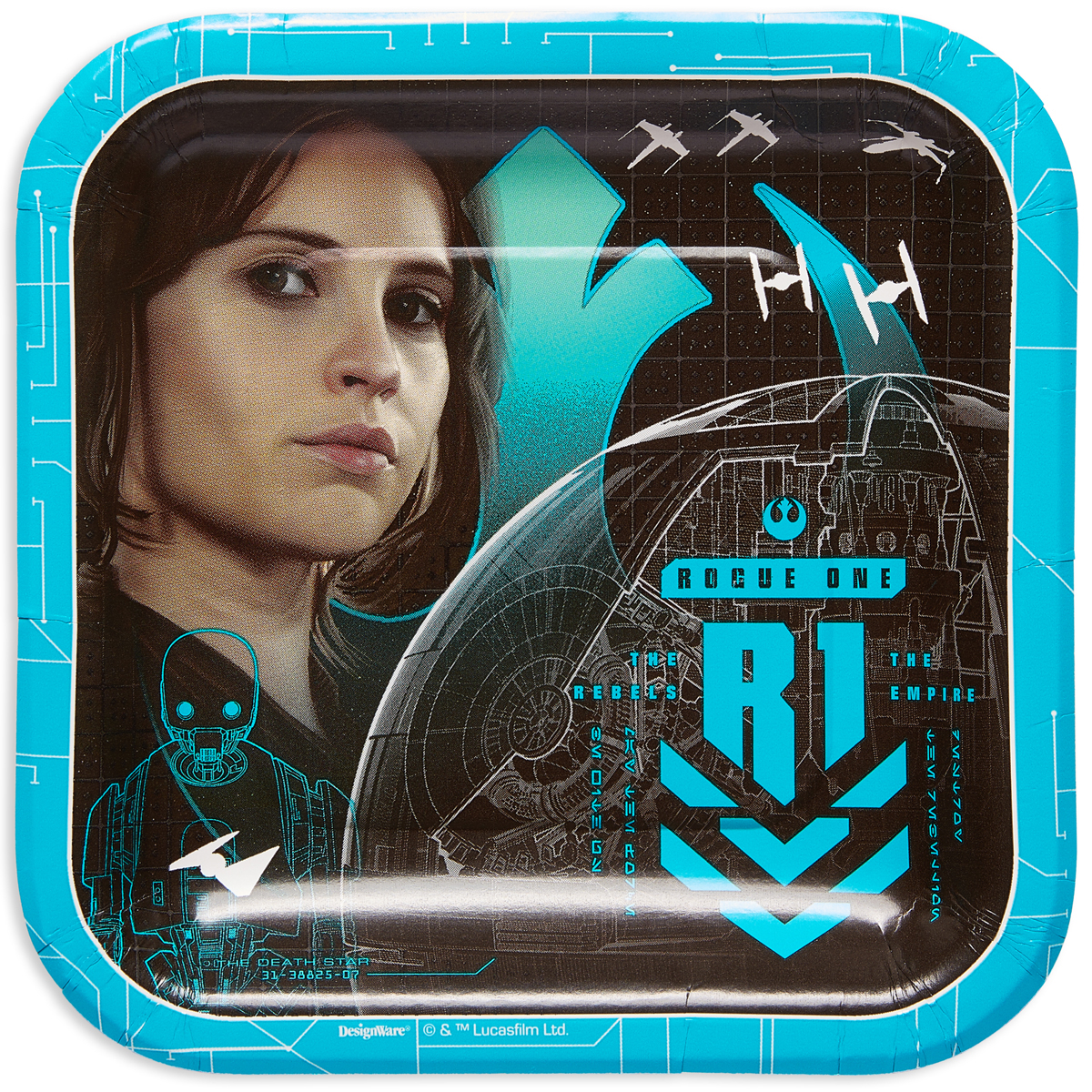 "7"" Rogue One: A Star Wars Story Square Paper Party Plate, 8ct"