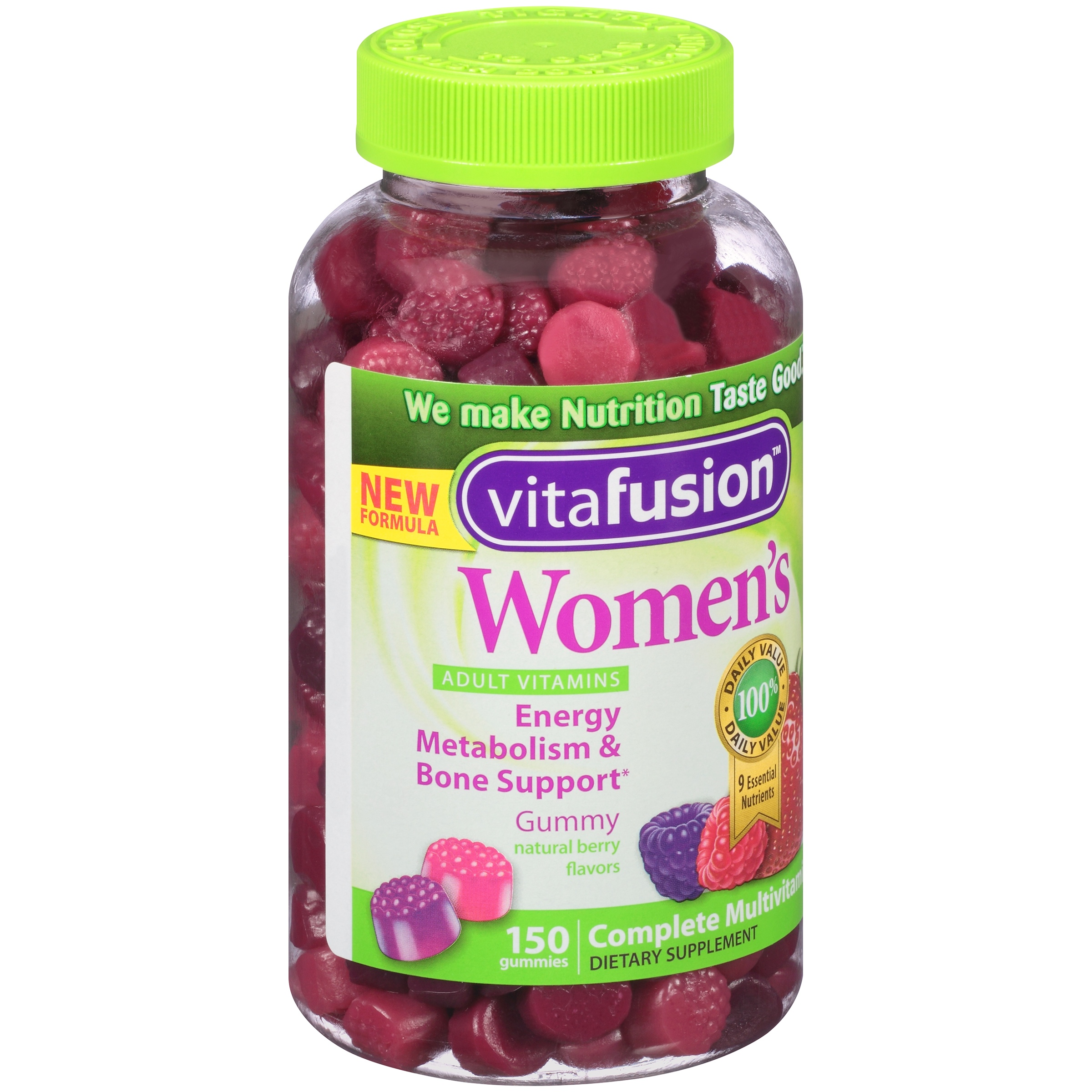 Vitafusion™ Women's Natural Berry Flavors Complete Multivitamin Gummies Dietary Supplement 150 ct Bottle