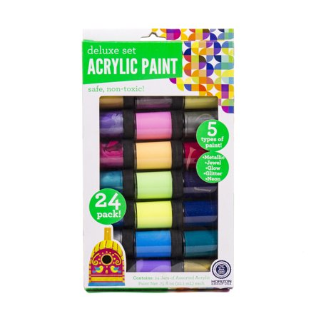 Horizon Group USA Acrylic Deluxe Premium Paint Set, 24 Piece