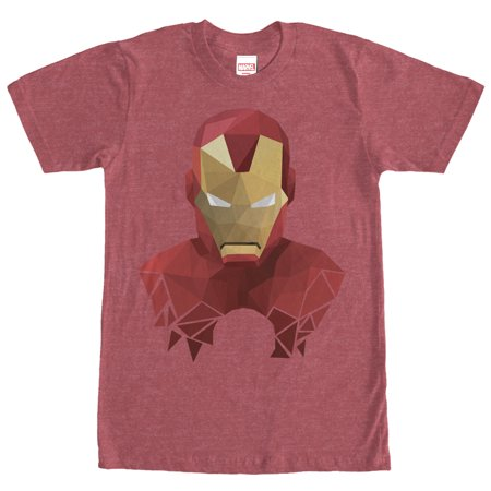 Marvel Men's Geometric Iron Man T-Shirt (Iron Man Armour For Sale)