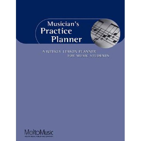 Musician's Practice Planner : A Weekly Lesson Planner for Music Students - Halloween Music For Students
