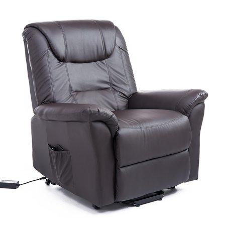 Homcom 42 Infinite Position Electric Lift Chair Recliner Dark Brown