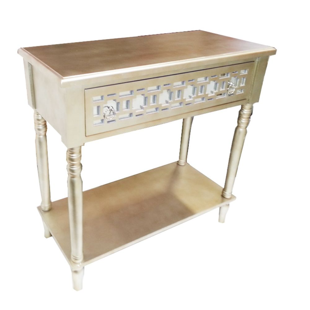 Click here to buy Appealing Gold TV Table Stand Benzara by Benzara.