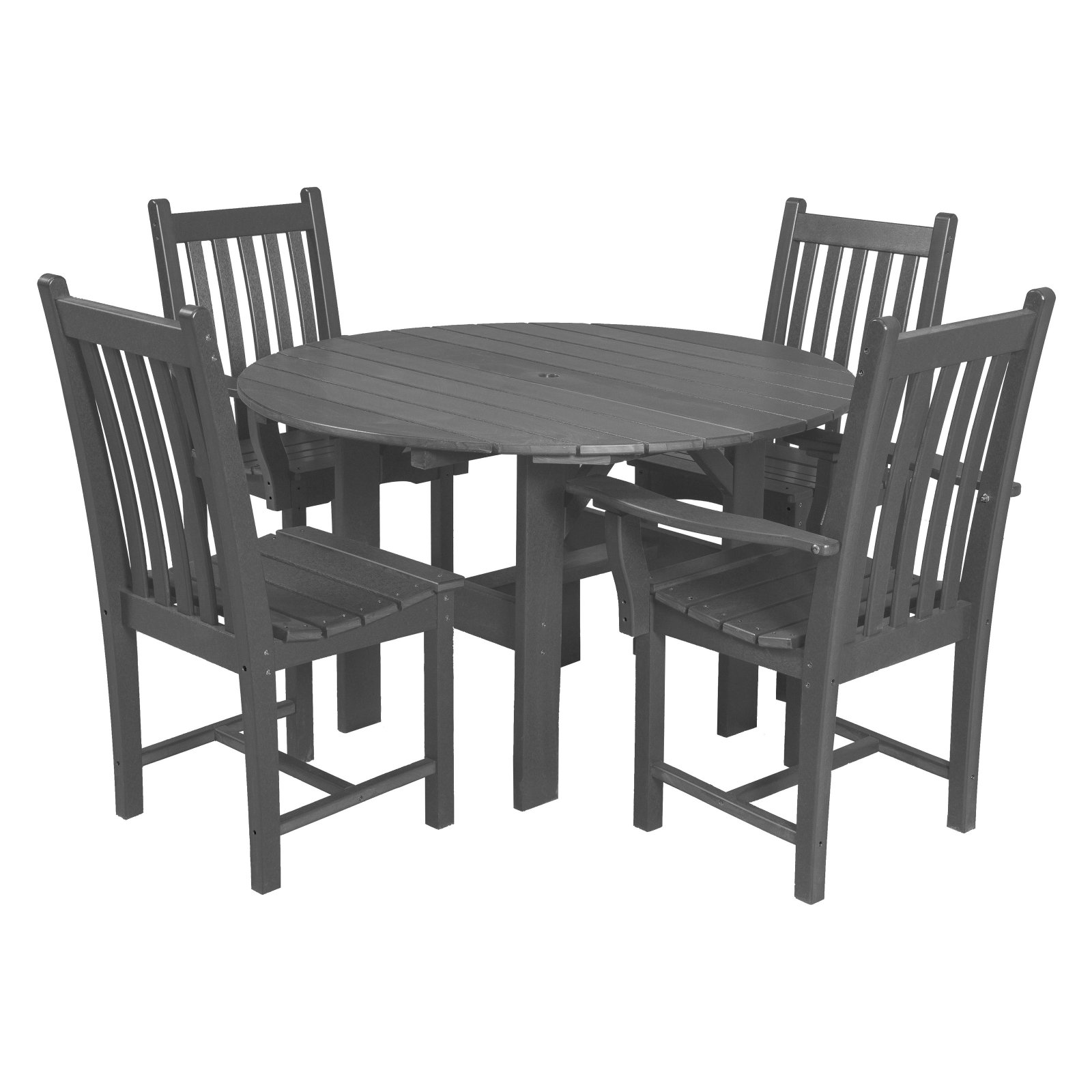 Little Cottage Classic Recycled Plastic 5 Piece Round Patio Dining Room Set by Little Cottage Co.