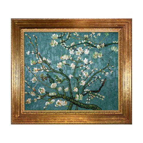 Overstock Art VG549-FR-7993620X24 Van Gogh - Branches Of An Almond Tree In Blossom Framed Art