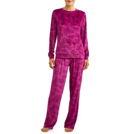 Juicy Velour Suit - Gloria Vanderbilt Women's and Women's Plus Stretch Velour 2-Piece Sleep Set