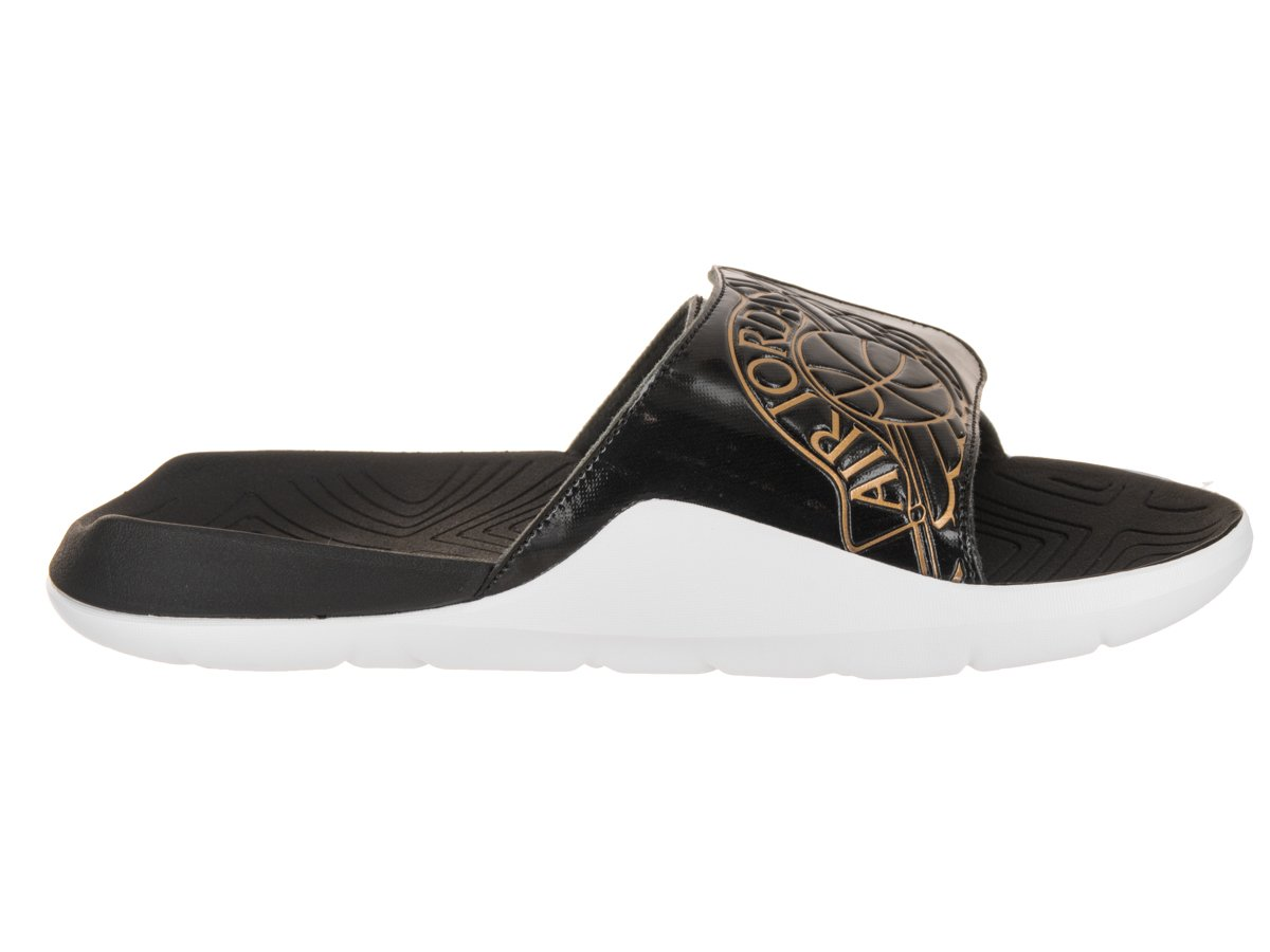 Jordan AA2517-021: Mens Hydro V II Black/Metallic Gold Retro Premium Slides (7 D(M) US Men)