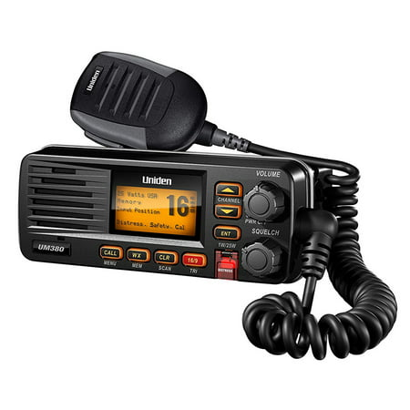 Uniden 25W Fixed Mount Marine Radio DSC, Black
