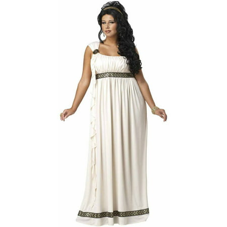 Olympic Goddess Plus Size Women's Adult Halloween Costume](Cream Costume)
