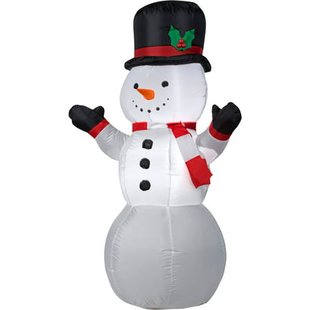 Gemmy Airblown Christmas Inflatables  Snowman, 4'