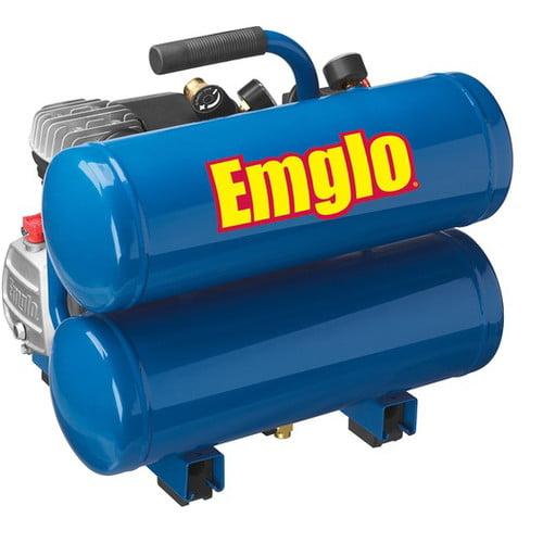 Emglo 4 Gallon Twin Stack Air Compressor