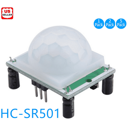 New HC-SR501 Small PIR Sensor Module Pyroelectric Infrared Body Motion Sensing-1pc (Sensor Module)