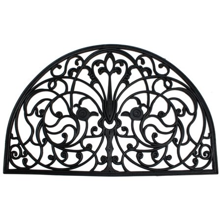 J & M Home Fashions Rubber Wrought Iron Arch Doormat 24x36 1/2 (Wrought Iron Arch)