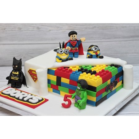 LAMINATED POSTER Eating Decoration Cake The Art Of Lego Creative Poster Print 24 x 36