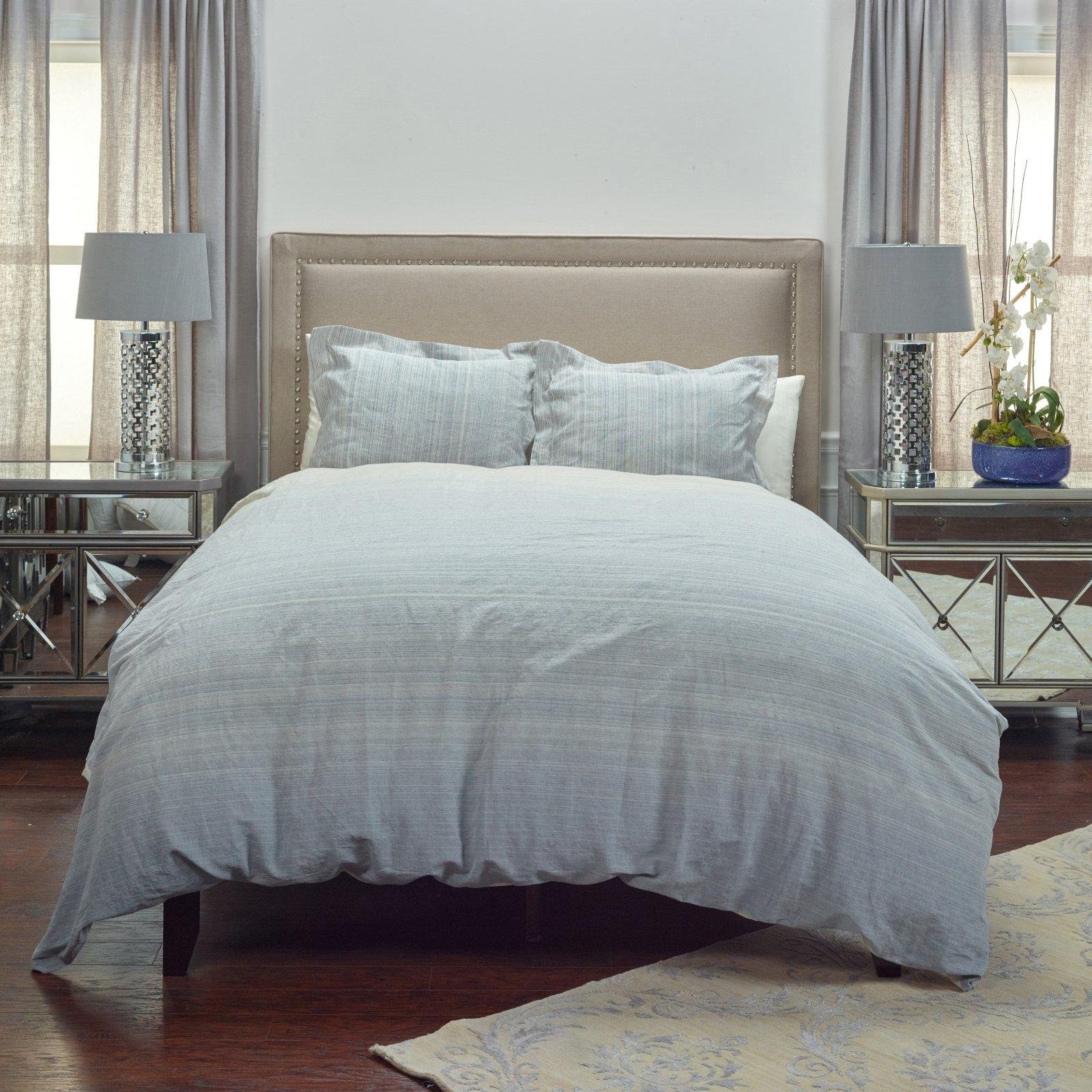 Rizzy Home BT4053 Queen Linen Duvet