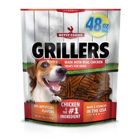 Betsy Farms Grillers Dog Treats, Chicken Flavor, 48