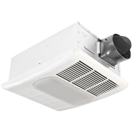 Delta Electronics RAD80L 80 CFM 1.3 Sones Ceiling Mounted Fan with Light and Hea