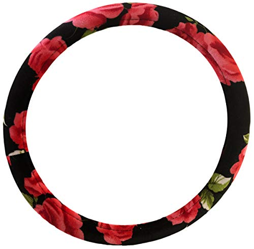 Bell Automotive Classic Floral Design Steering Wheel Cover