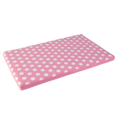 KidKraft Austin Toy Box Cushion - Pink with White Polka Dots, Soft Fabric Cover (Storage Chest Cover)