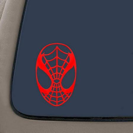 Spiderman Face Spidey Mask Vinyl Decal Sticker - Red | 5.5
