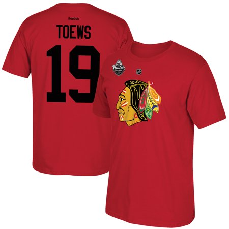 Jonathan Toews Chicago Blackhawks Reebok 2017 Winter Classic Name & Number T-Shirt - Red