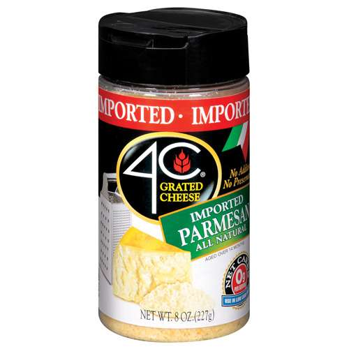 4C Imported Parmesan Grated Cheese, 8 oz