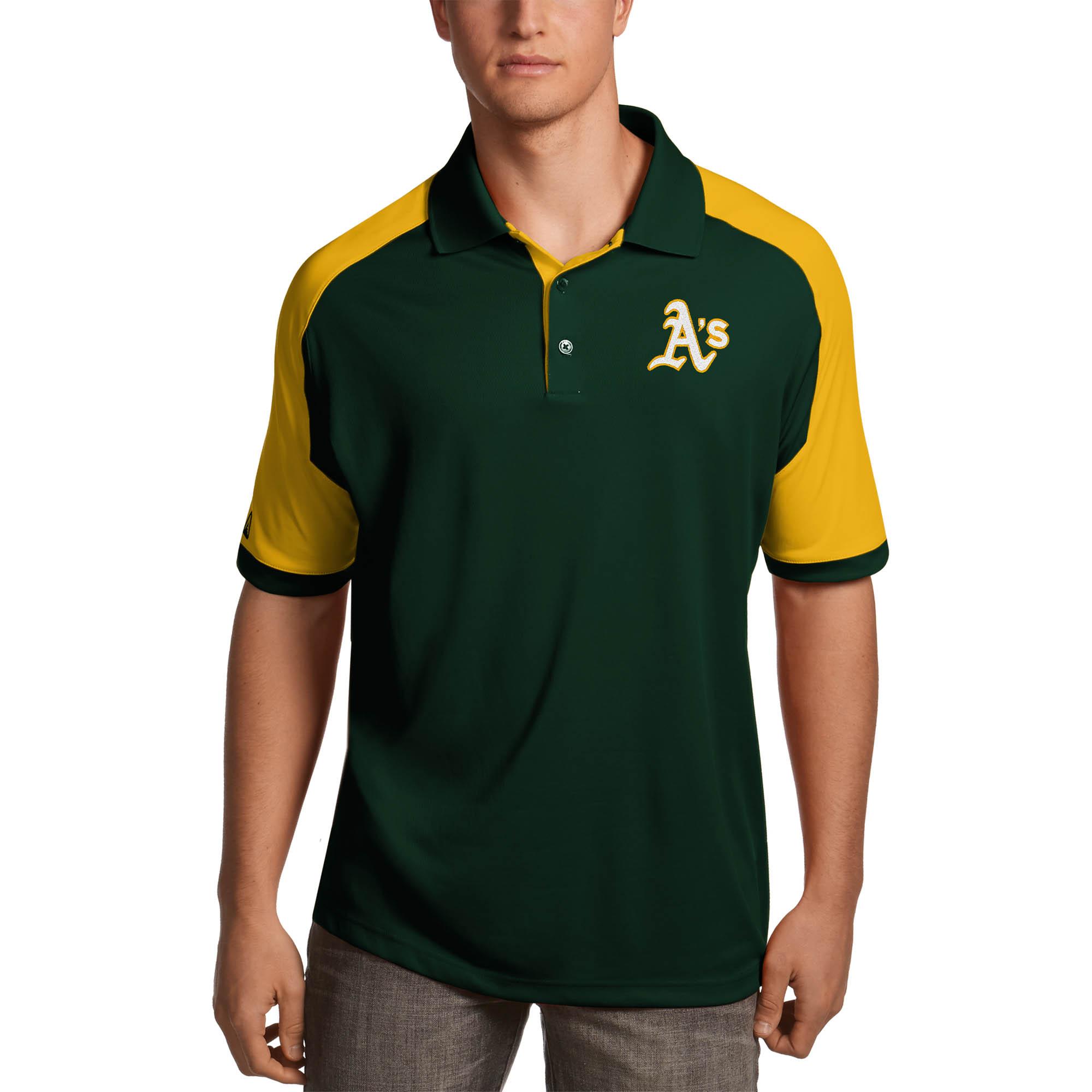 Oakland Athletics Antigua Century Polo - Green/Gold