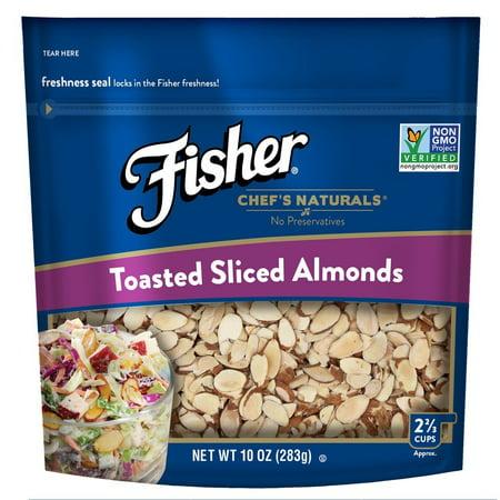 Fisher Toasted Sliced Almonds, Non-GMO, No Preservatives, 10 oz ()