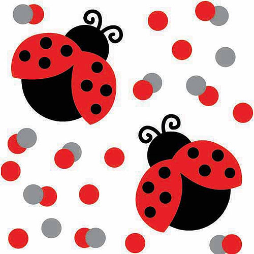 Creative Converting Ladybug Fancy Confetti
