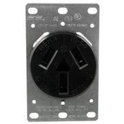 Pass & Seymour 5206 Single-Flush Range Receptacle, 3 wire