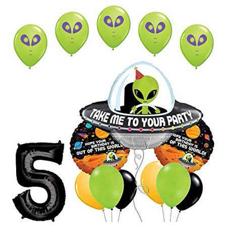 Space Birthday Party (Space Alien 5th Birthday Party Supplies Balloon Bouquet)