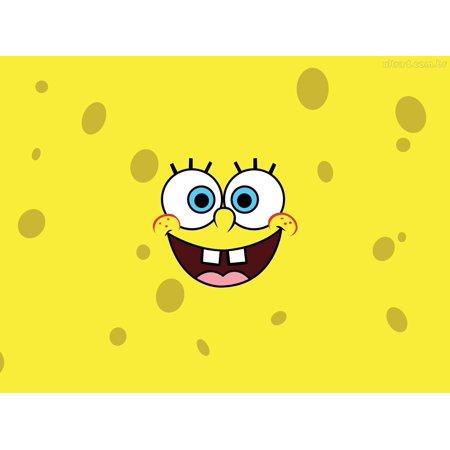 Spongebob Square Pants 1/2 Size Sheet Cake Topper Edible Frosting Image - Spongebob Cake Toppers