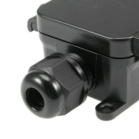 Waterproof Outdoor 2 Way Electrical Junction Box 118x42x30mm with Terminal Strip - image 5 de 5