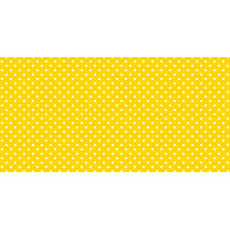 Fadeless Designs Paper Roll, Classic Dots Yellow, 48 Inches x 12 (12 Double Dot Paper)