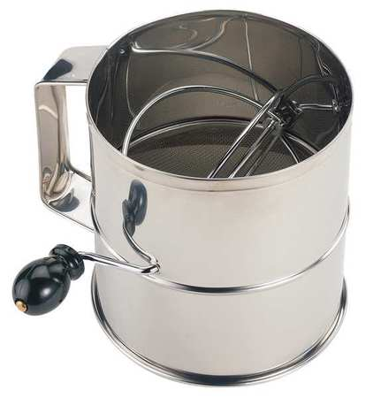 Crestware SFS08 Stainless Steel Flour Sifter, 6-1 4 In by Crestware