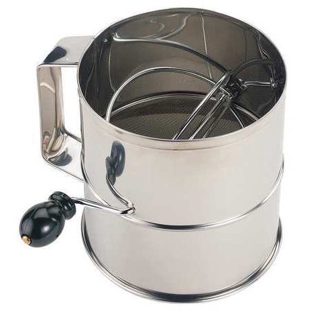 CRESTWARE SFS08 Flour Sifter, Stainless Steel, 6-1 4 In by