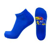Kansas Jayhawks No Show Footie, Blue Sock