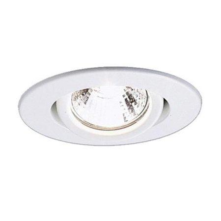Recessed Mini (Lightolier 2025WH 3-3/4 Inch Adjustable Accent Mini Swivel Reflector Trim Round Matte White)