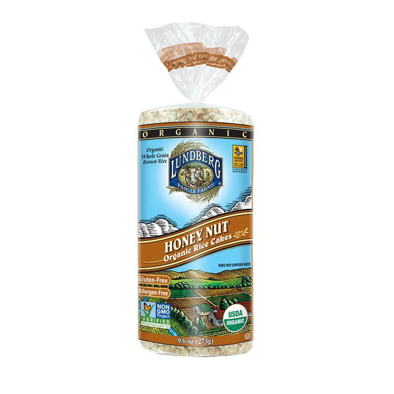 Lundberg Organic Rice Cake, Honey Nut, 9.6 Oz