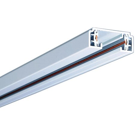 Halo Lazer Track Lighting - Halo LZR102P Miniature Linear Laser Track Light System, 2 ft L x 1-3/8 in W x 9/16 in H, White