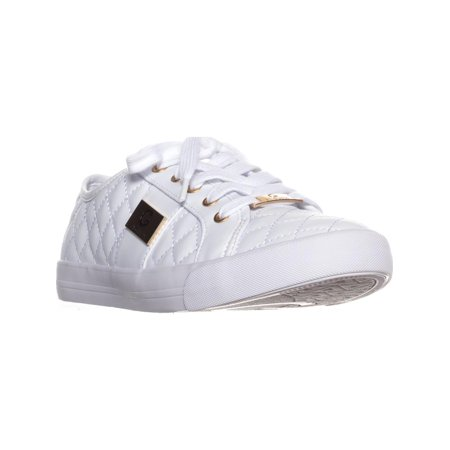 7c8e52846806 GUESS - Womens G by Guess Backer2 Quilted Fashion Sneakers, White, 8 ...