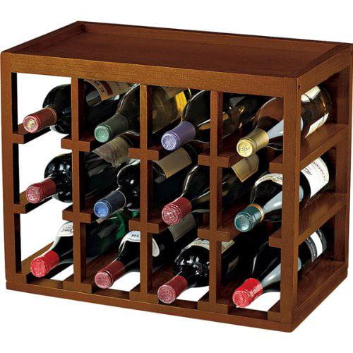 Wine Enthusiast 12-Bottle Cube Stacked Hardwood Wine Rack by Generic