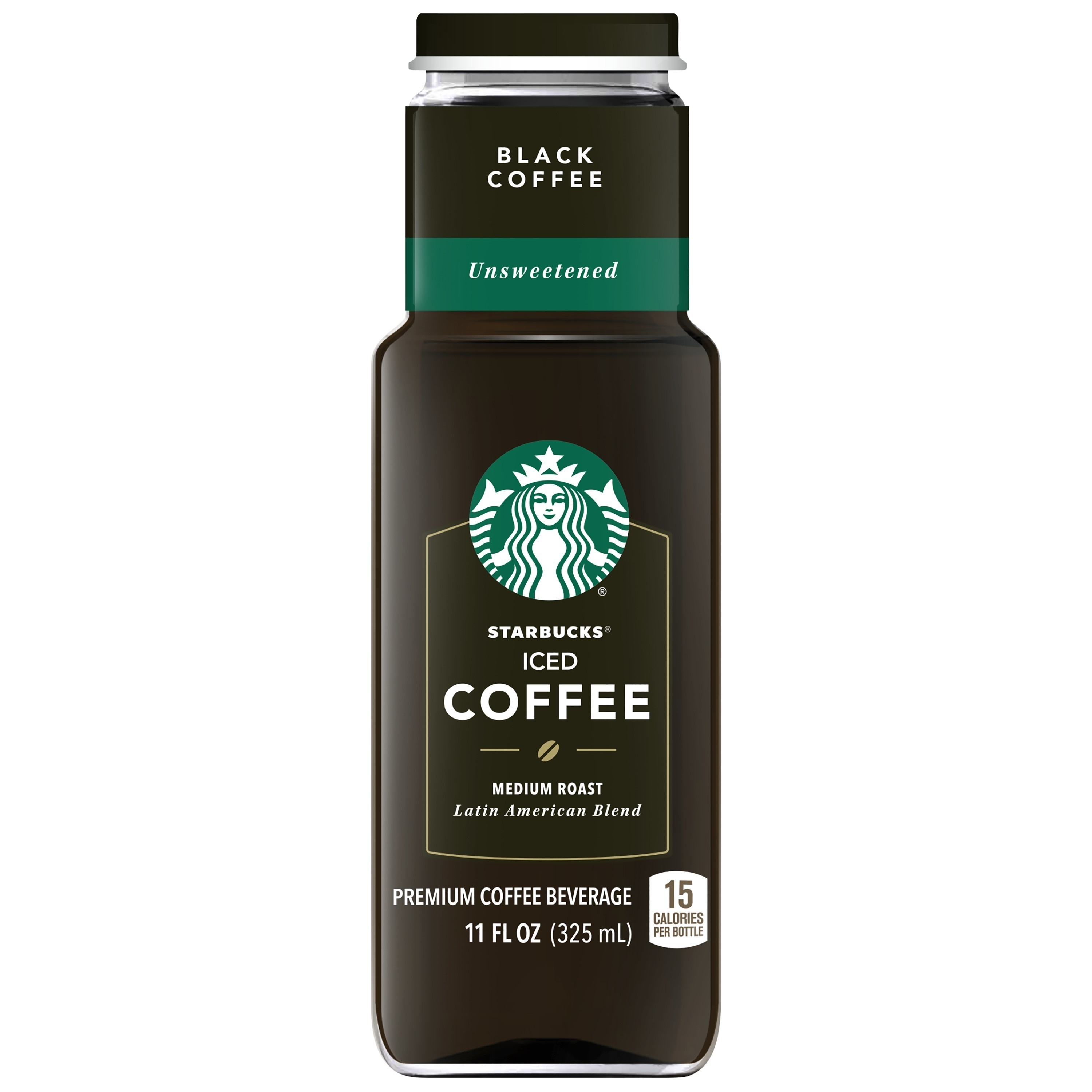 Starbucks Premium Iced Coffee Beverage, Unsweetened Black, 11 Fl Oz, 8 Ct