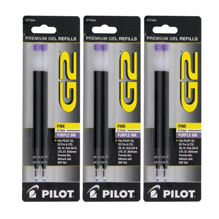 Pilot  G2, Dr. Grip Gel/Ltd, ExecuGel G6, Q7 Rollerball Gel Ink Pen Refills