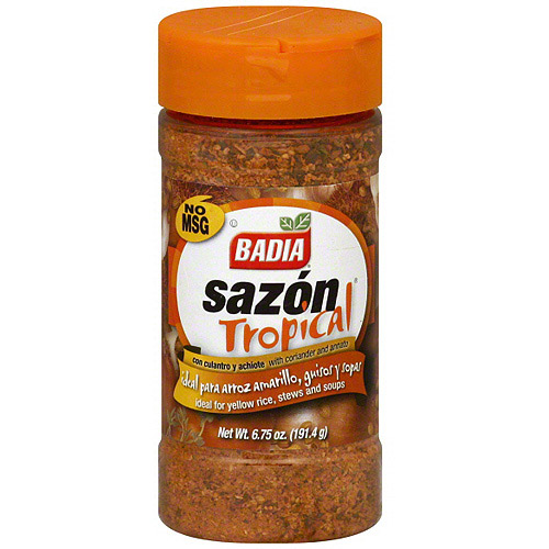 Badia Tropical Spice Seasoning With Coriander And Annatto, 6.75 oz (Pack of 12)