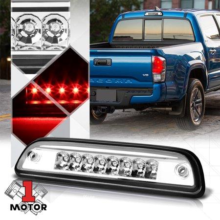 Chrome Housing Clear Lens Rear LED Third[3rd]Brake Light for 95-17 Toyota Tacoma 96 97 98 99 00 01 02 03 04 05 06 07 08 09 10 11 12 13 14 15 16