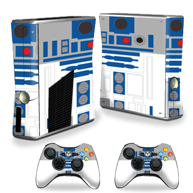 MightySkins Protective Vinyl Skin Decal for Microsoft Xbox 360 S Console wrap cover sticker skins Cyber Bot